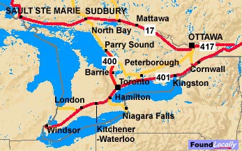 Southern Ontario's Trans-Canada route through the South
