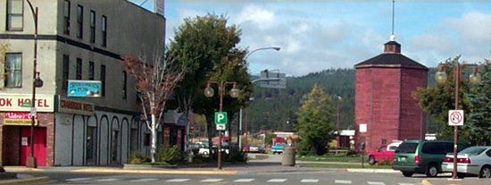 Cranbrook BC has a railroad era rustic downtown