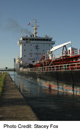 Ships on the Welland Canal at Thorold