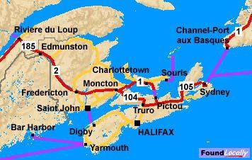 nova scotia map on transcanadahighway