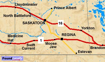 Saskatchewan section of the Trans-Canada