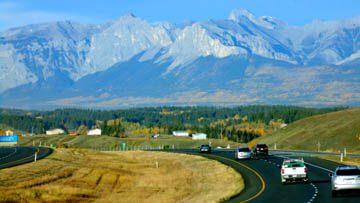 View west of Scott Lake Hill toward Mount Yamnuska