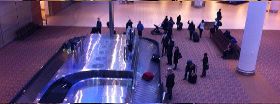 View of baggage carousels at Winnipeg International