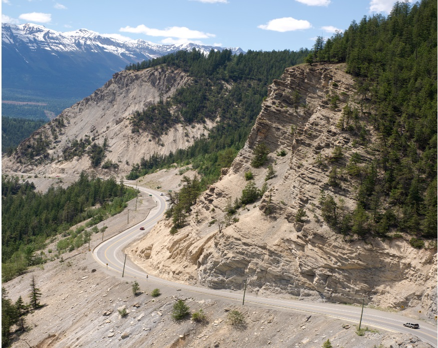 Frenchmans Ridge section of the Kicking Horse Canyon
