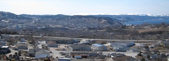 Corner Brook view from above