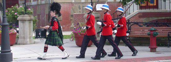 military prade in Fredericton