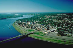Aerial View of Fredericton