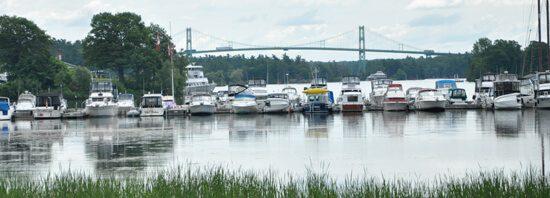 Gananoque's Thousand Islands Bridge across the St Lawrence
