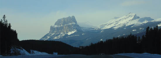 Trans-Canada toward Lake Louise