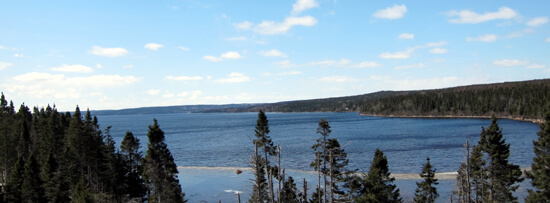 view of Gander Lake from Trans-Canada