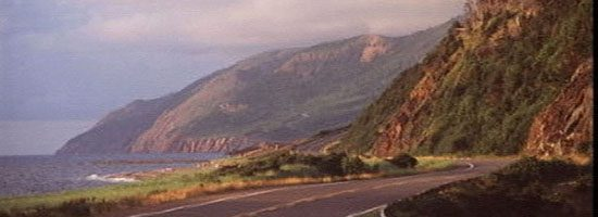 Magnificent Cabot Trail winds around the northern end of Cape Breton