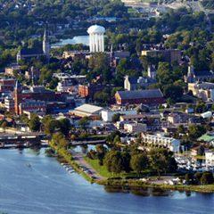 Belleville, overhead view