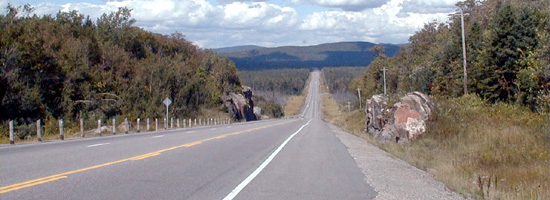 Mile 1 Hill, near Heyden, north of Sault Ste Marie on the #17