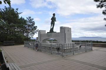 Terry Fox monument, just east of Thunder Bay