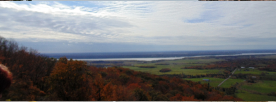 Ottawa Valley with Fall Leaves, view west from Gatineau Hills