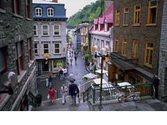 Quebec City's Rue du Tresor to the Lower Town