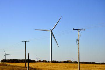 Wind Turbines near Morse