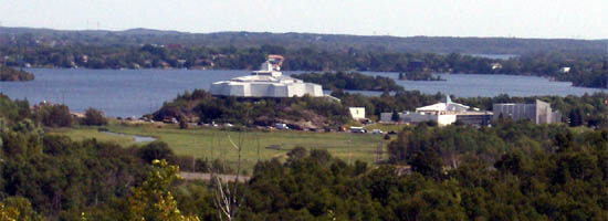 View of Science North and Ramsay Lake