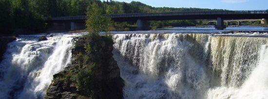 Kakabeka Falls are just west of Thunder Bay