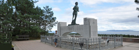 Terry Fox memorial just east of Thunder Bay