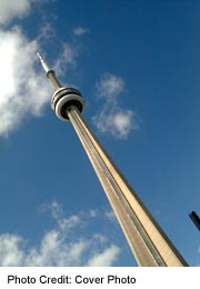 Toronto CN Tower, from below