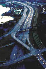 Toronto's Gardiner Expressway at Dusk