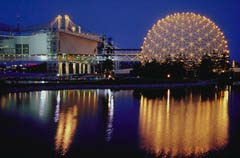 Toronto's Ontario Place at Night