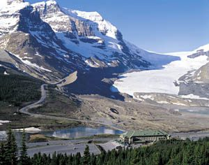 Columbia Icefields, as seen from Banff-Jasper Icefields Parkway