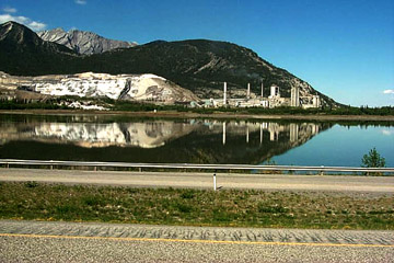 the LaFarge Cement plant at Lac Des Arc