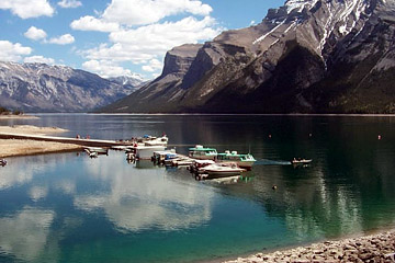Lake Minnewanka Docks, in Banff National Park