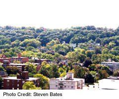 View of Aberdeen neighbourhood from Escarpment