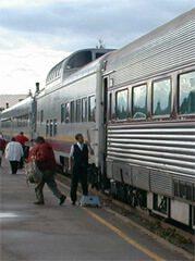 Agawa Train unloading passengers