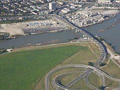 Arthur Laing Bridge-aerial view