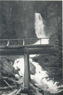 photo of watgerfall at BC's Big Bend in the 1940s
