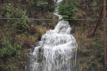 waterfall along Highway 3