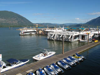 Salmon Arm's Town Wharf and view