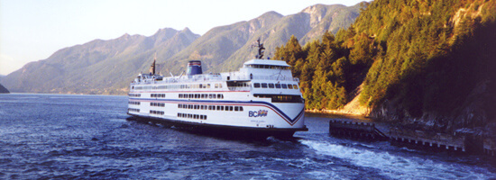 View of BC Ferry at Horseshoe Bay