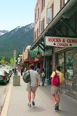 Shopping on Banff Avenue