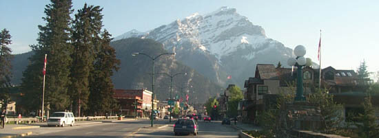 Banff Avenue in the Morning
