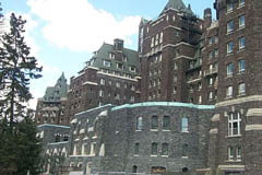 Banff Springs Hotel view from the front
