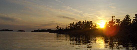 Beautiful Northern Ontario sunset over lake