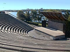 Amphitheatre at Bell Park overlooking Ramsay Lake