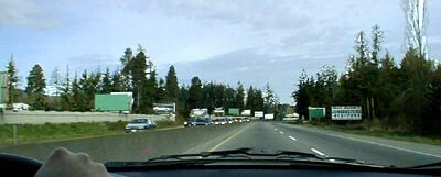 Billboards alongside Patricia Bay Highway passing through East Saanich Indian Reservation 2