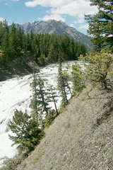 Bow Falls from the Tunnel Mountain shore