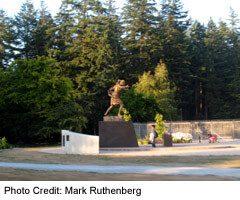Bronze Statue in Centennial Park