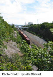 CN Railway cut through southern end of Halifax Peninsula