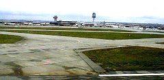 Calgary International Airport as seen from main runway