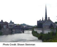 View of Grand River in Cambridge