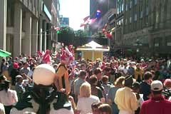 View of busy Sparks Street