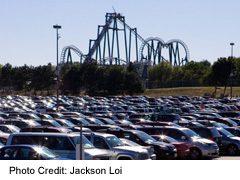 View of Canada's Wonderland amusement park